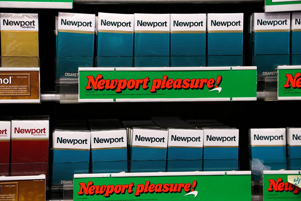 Reynolds American; Newport; cigarettes Newport cigarettes, a Reynolds American brand, are on display at a Smoker Friendly shop in PittsburghReynolds American, Pittsburgh, USA