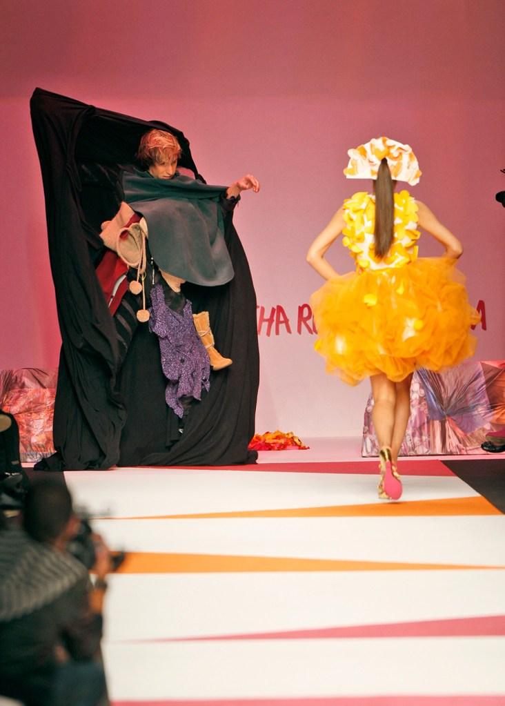 Sacha Baron Cohen British actor Sacha Baron Cohen, left, gets on the catwalk during the Agatha Ruiz de La Prada Spring/Summer 2009 fashion collection presented in Milan, ItalyITALY FASHION, MILAN, Italy