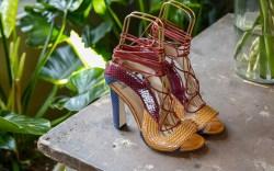 Shoes on display Paula Cademartori presentation,