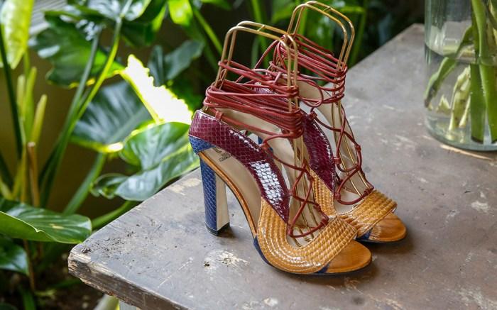 Shoes on display Paula Cademartori presentation, Autumn Winter 2017, Milan Fashion Week, Italy - 25 Feb 2017