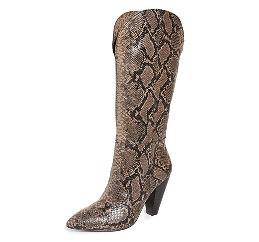 Splendid Women's Palmer Boot, snakeskin boots, brown boots
