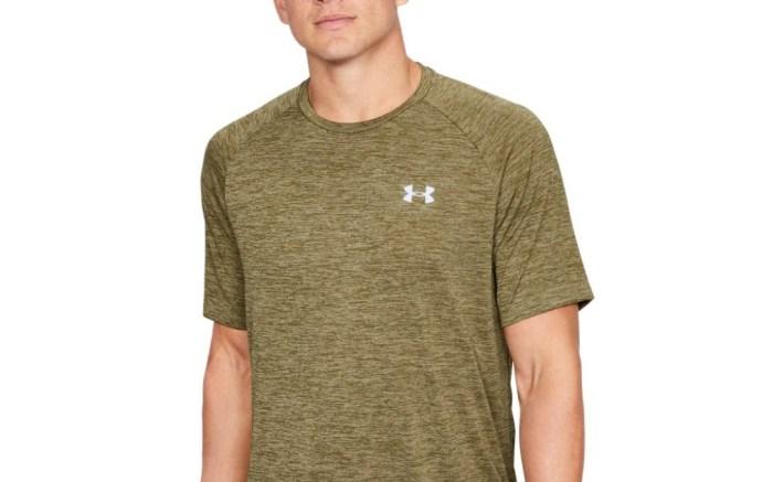 under armour, moisture-wicking t-shirt