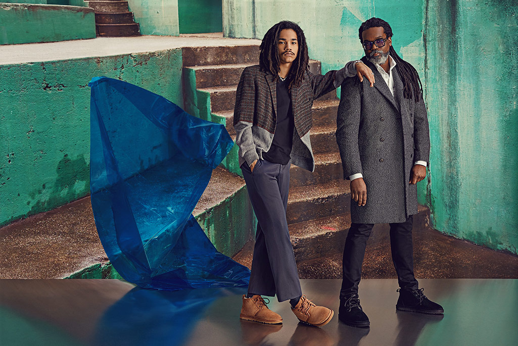 Ugg fall '19 campaign featuring Luka Sabbat and father Clark.