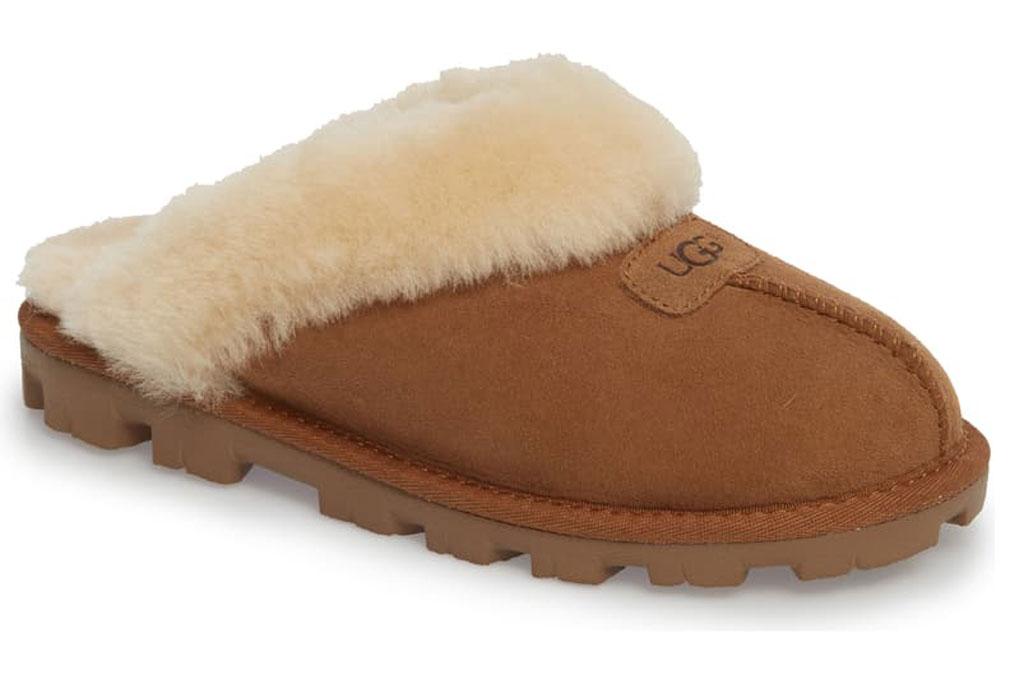 "Ugg , shearling slippers, ""Chestnut"