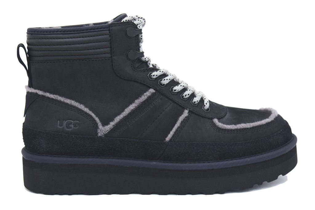 ugg, white mountaineering, ugg x white mountaineering, boot, black
