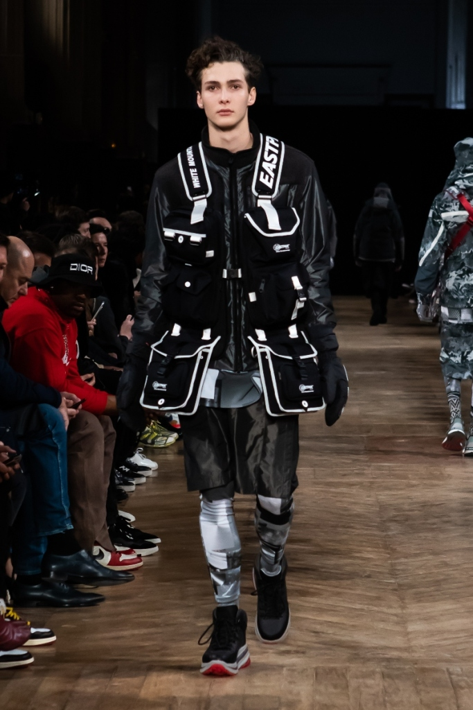 white mountaineering, fall, boots, runway