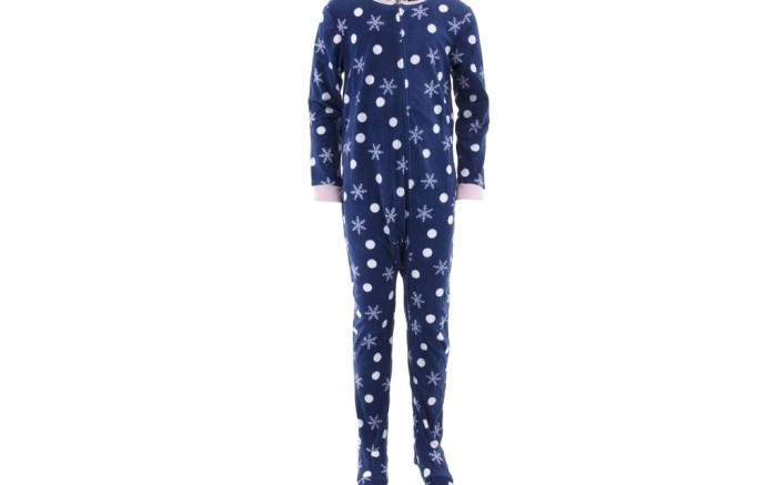 komar kids footed pajamas