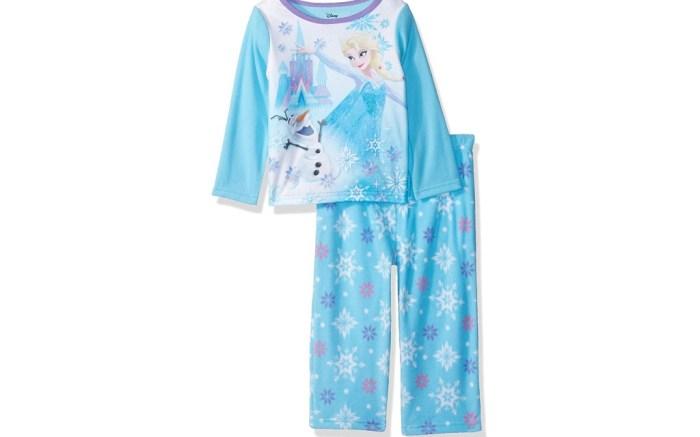 Disney Girls' Frozen Elsa 2-Piece Fleece Pajama Set
