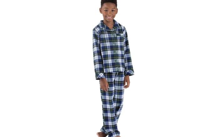 pajamagram tartan pajamas, boys warm pajams