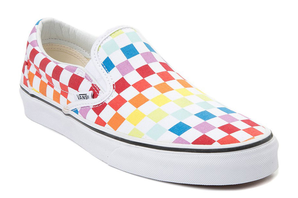 Vans, rainbow, sneakers, slip-on shoes