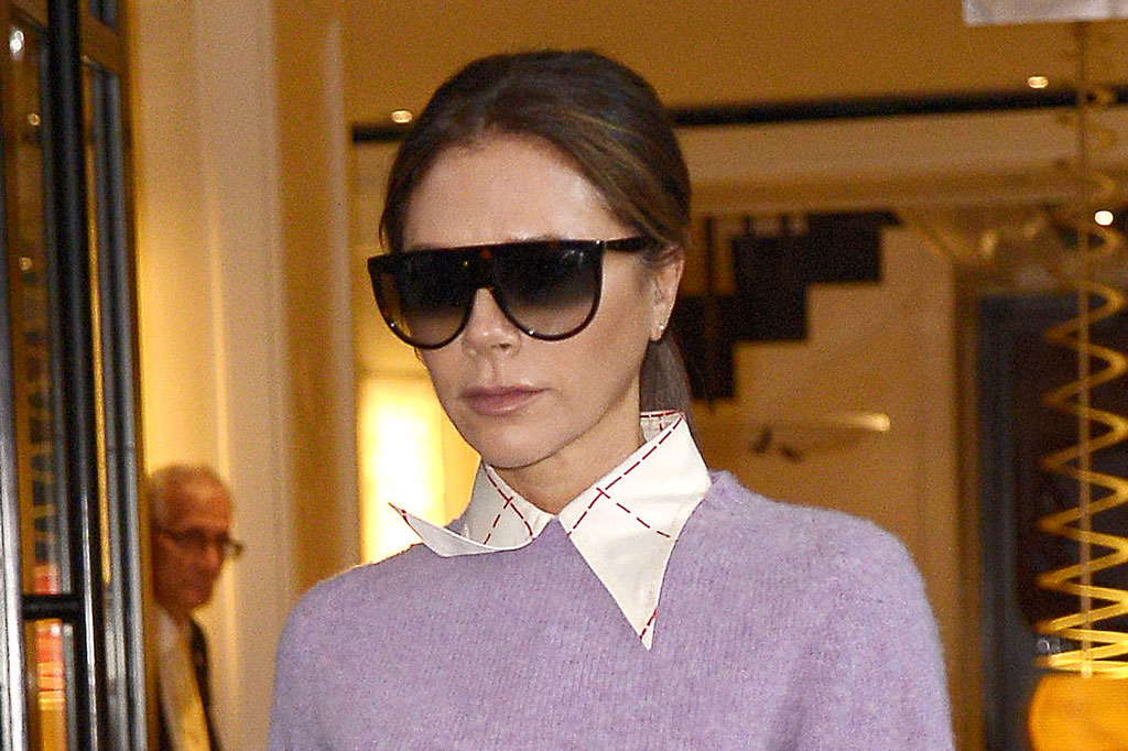 Victoria Beckham Shows Off Her Pedicure In Peep Toe Red Boots In Nyc Footwear News