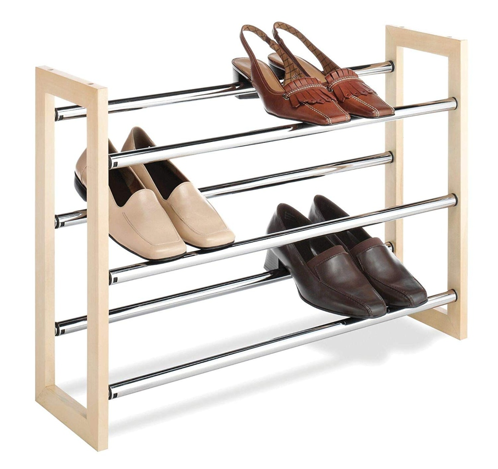 Whitmor 3 Tier Expandable Shoe Rack
