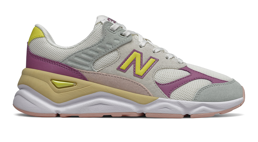 New Balance, Reformation X90, womens sneakers, New Balance x Reformation X90, nb, womens, yellow, purple, gray