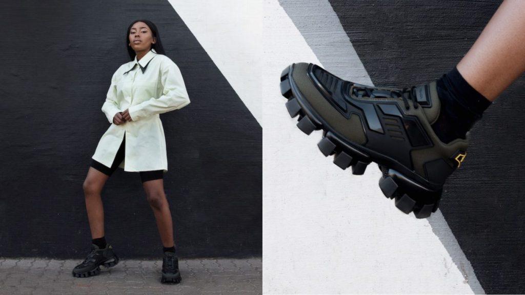 Shelley Mokoena, South Africa, Prada sneakers