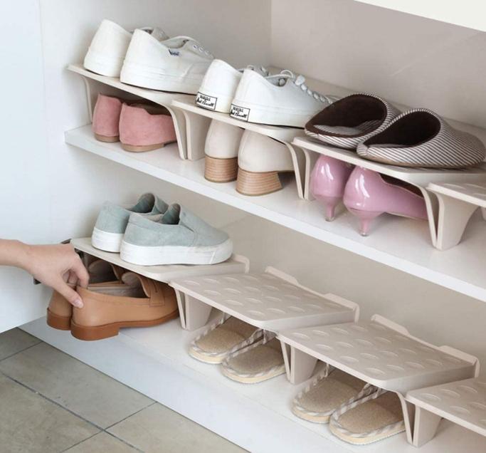 shoe space saver, JL Home Shoe Stacker Slotz Space Saver
