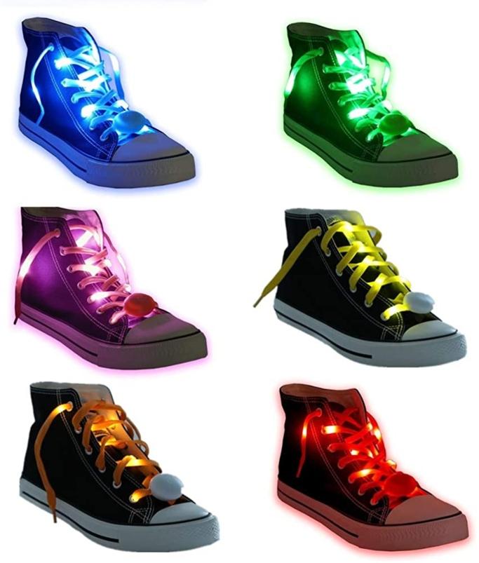 Acmee 6 Pairs LED Shoelaces, light up shoelaces