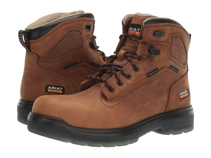 "Ariat Turbo 6"" Waterproof Carbon Toe Work Boot, best winter boots for men"