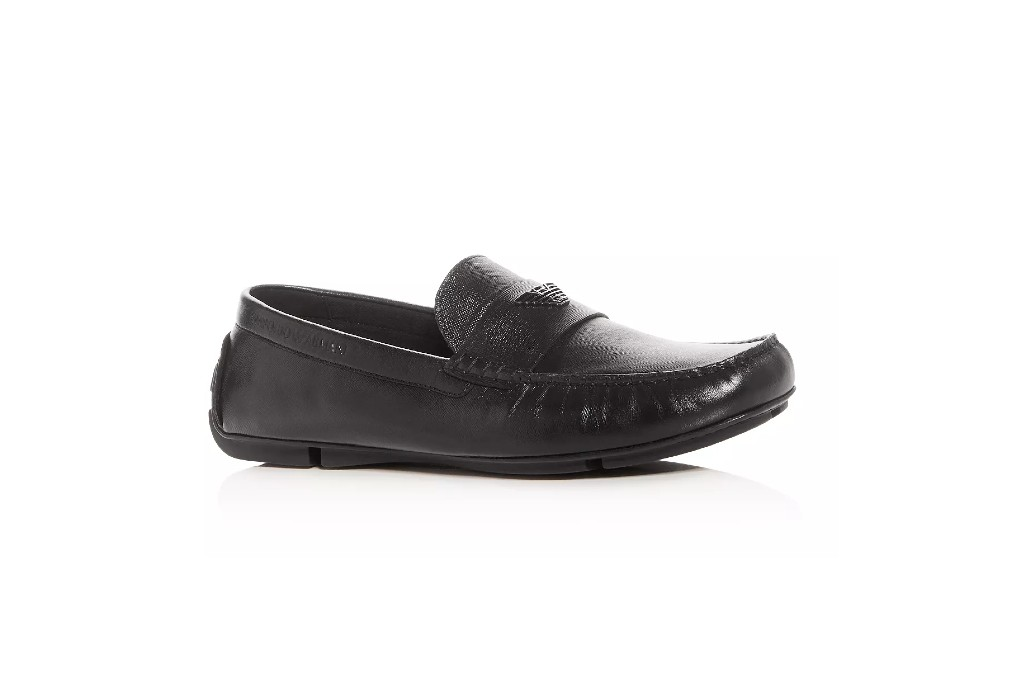 Emporio Armani Leather Loafers, best moccasins for men