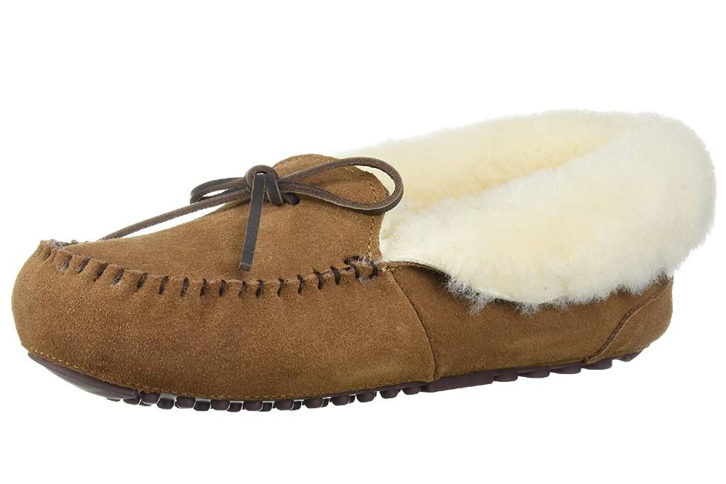 women's moccasin slippers, Dearfoams Fireside Brisbane Moccasin