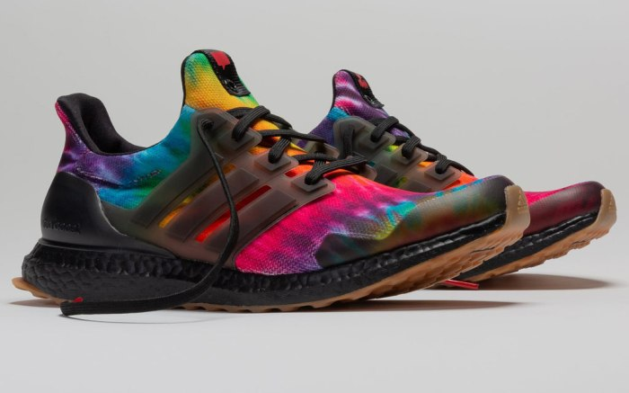 Nice Kicks x Adidas Consortium UltraBoost, tie-dye sneakers, 50th woodstock
