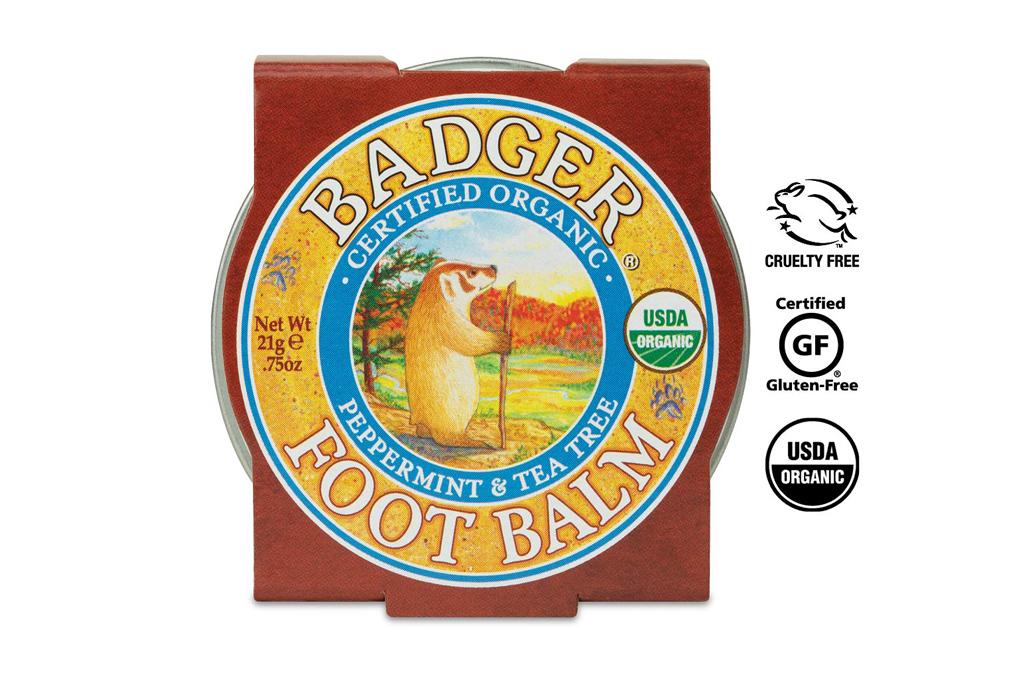 badger, foot balm