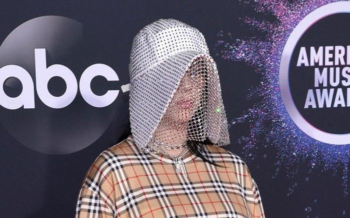 Billie EIlish, Burberry, American Music Awards, AMAs, celebrity style, stuart weitzman shoes, lorraine schwartz jewels, 47th Annual American Music Awards, Arrivals, Microsoft Theater, Los Angeles, USA - 24 Nov 2019