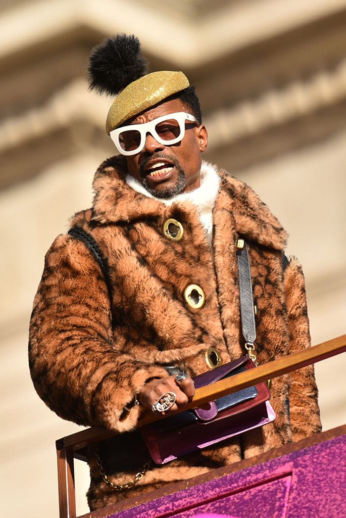 Billy Porter at the Macy's Thanksgiving Parade 2019.