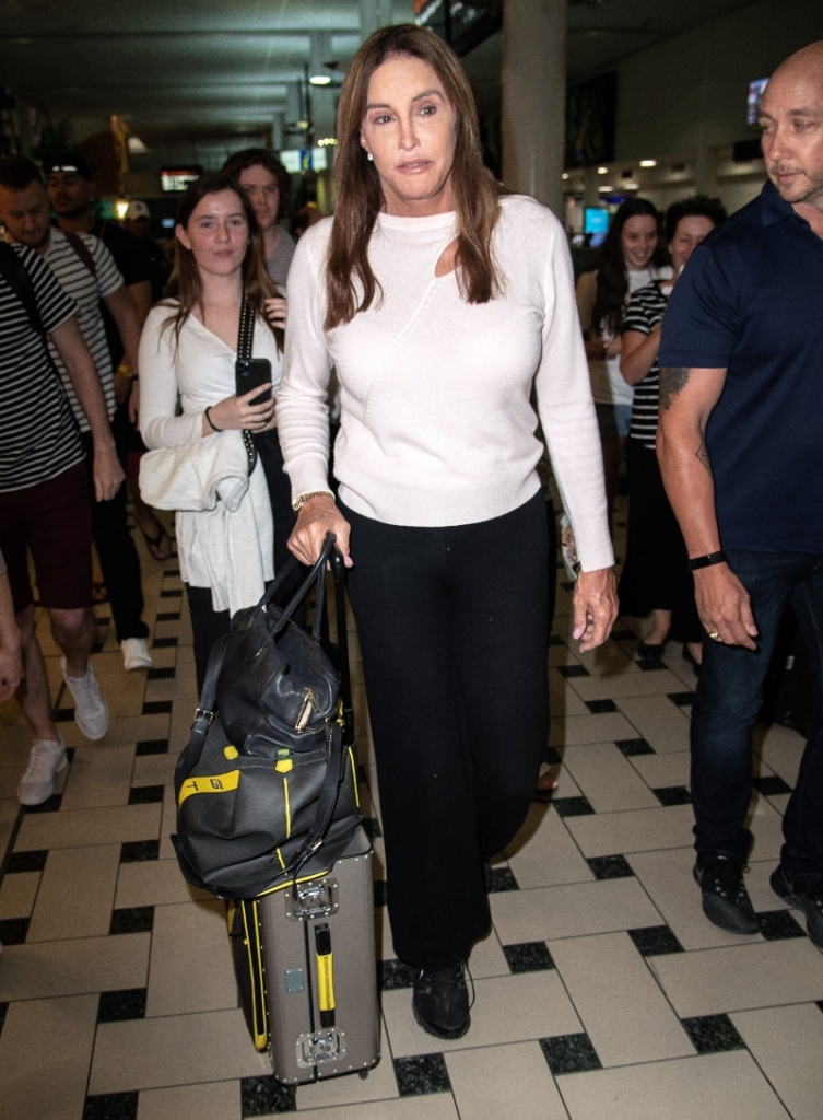 caitlin jenner, nike sneakers, brisbane australia, brisbane airport, I'm a Celebrity Get Me Out of Here