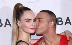 Cara Delevingne and Olivier Rousteing, balmain,