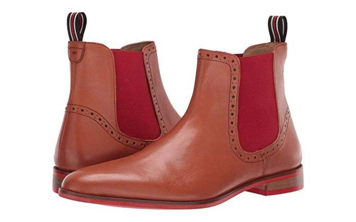 carlos santana, Mantra boot, red, chelsea boot