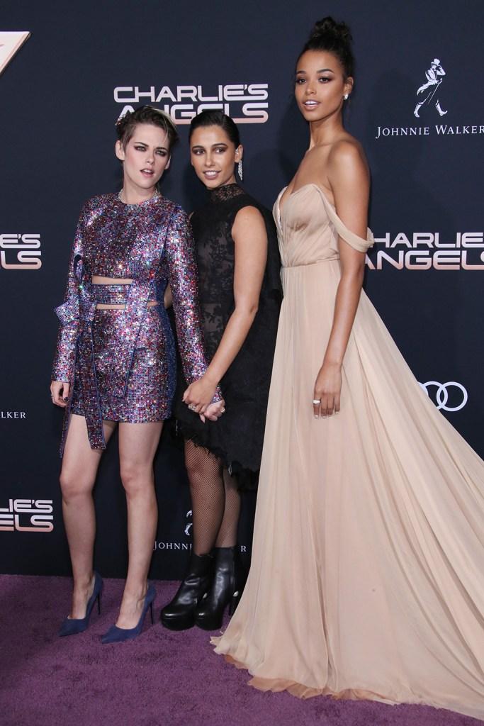 Kristen Stewart, Naomi Scott and Ella Balinska'Charlie's Angels' film premiere, Arrivals, Regency Village Theatre, Los Angeles, USA - 11 Nov 2019