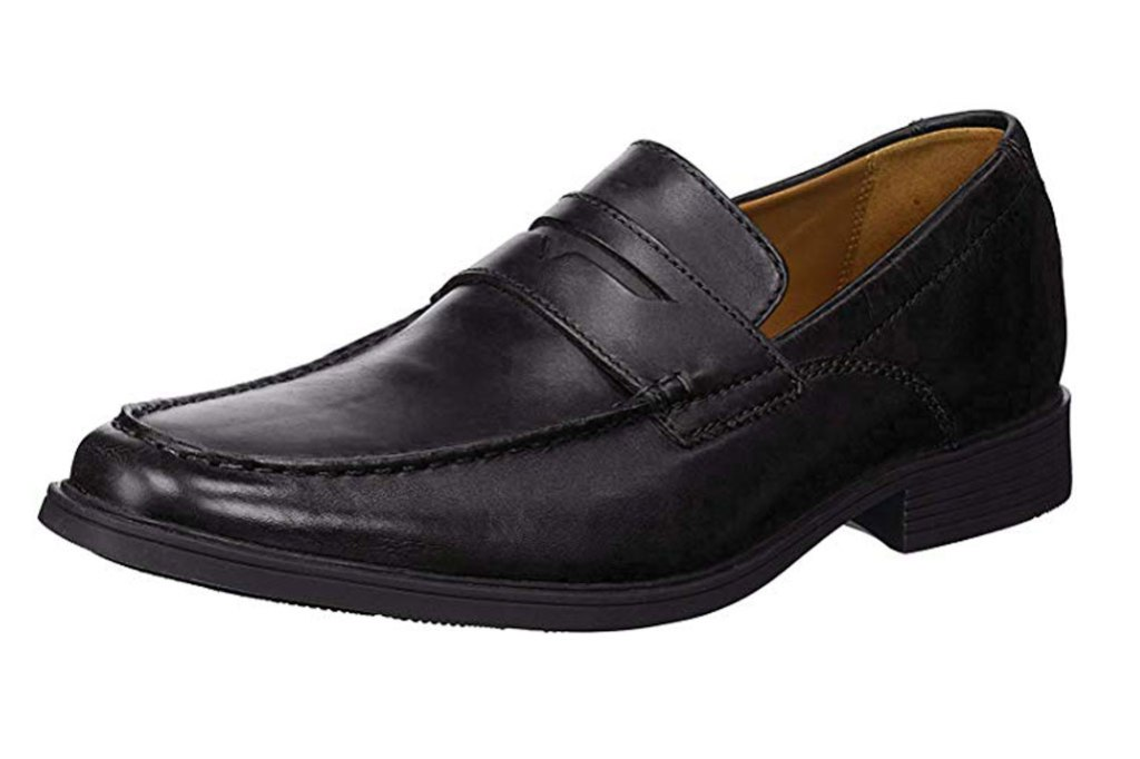 Clarks penny loafers