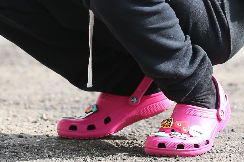 Justin Bieber, Crocs, Pink, Tracksuit