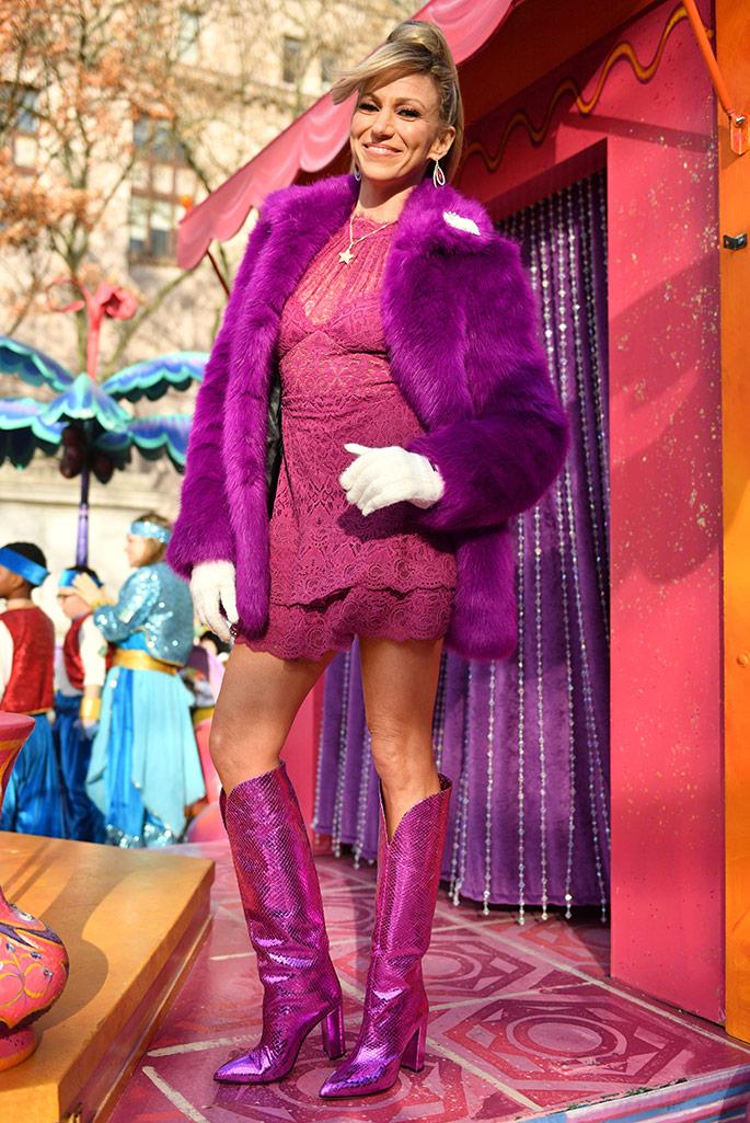 Deborah Gibson wearing Paris Texas boots at the Macy's Thanksgiving Parade.