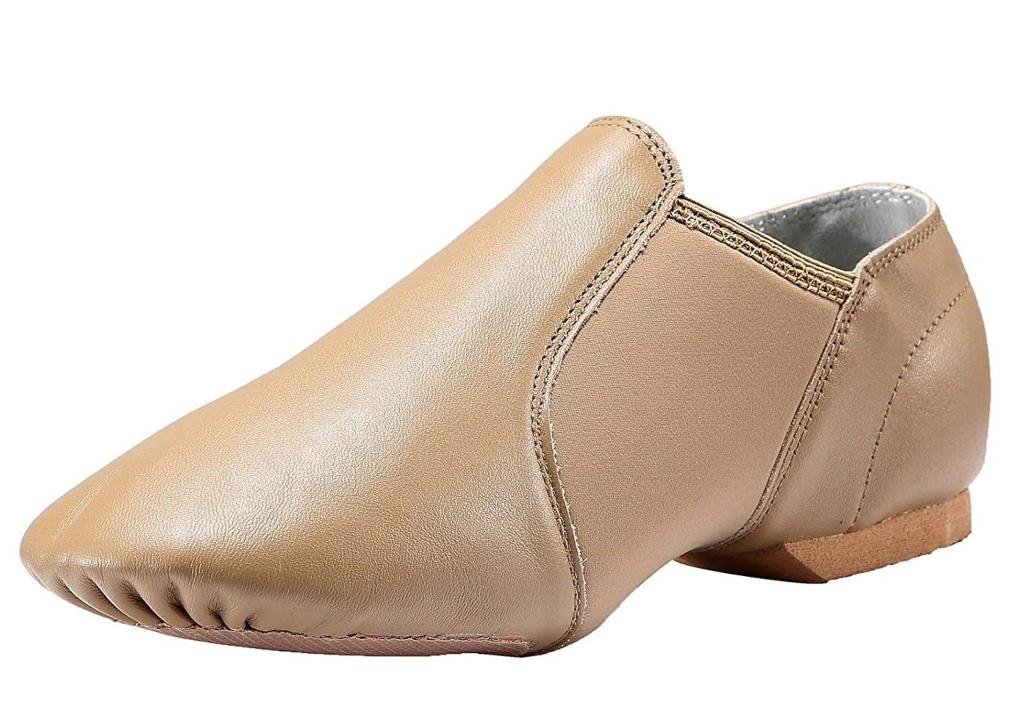 Dynadans leather slip on shoes