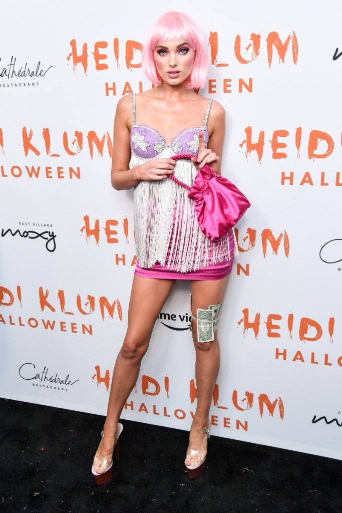 heidi klum, zombie, gory, elsa hoskhalloween party, halloween costume