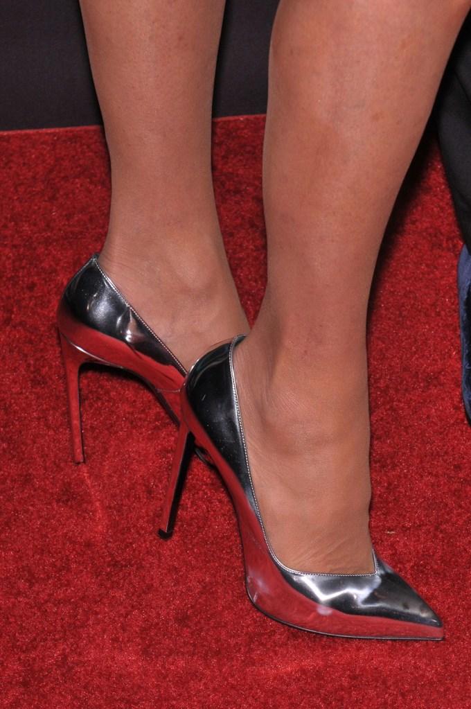 Christie Brinkley, shoe detailFootwear News Achievement Awards, Arrivals, IAC Headquarters, New York, USA - 29 Nov 2016