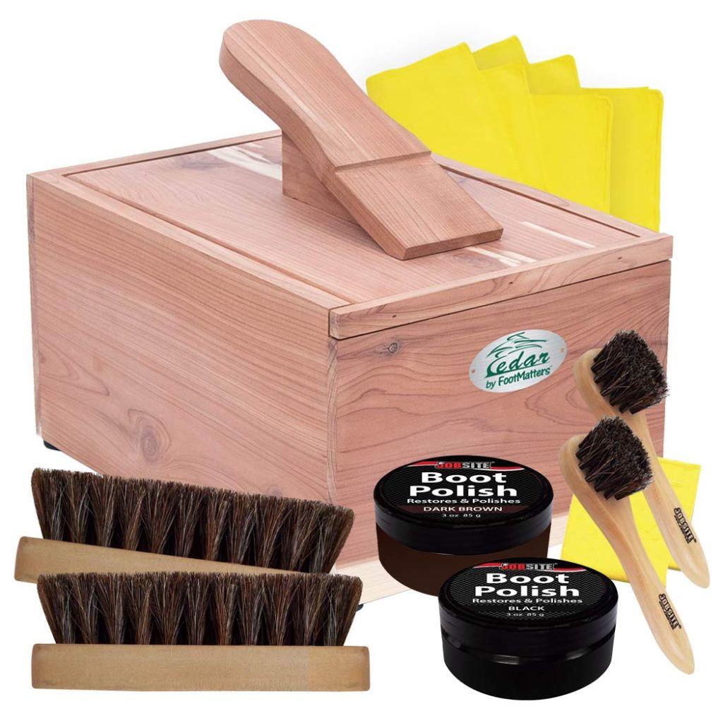 footmatters shoe shine box