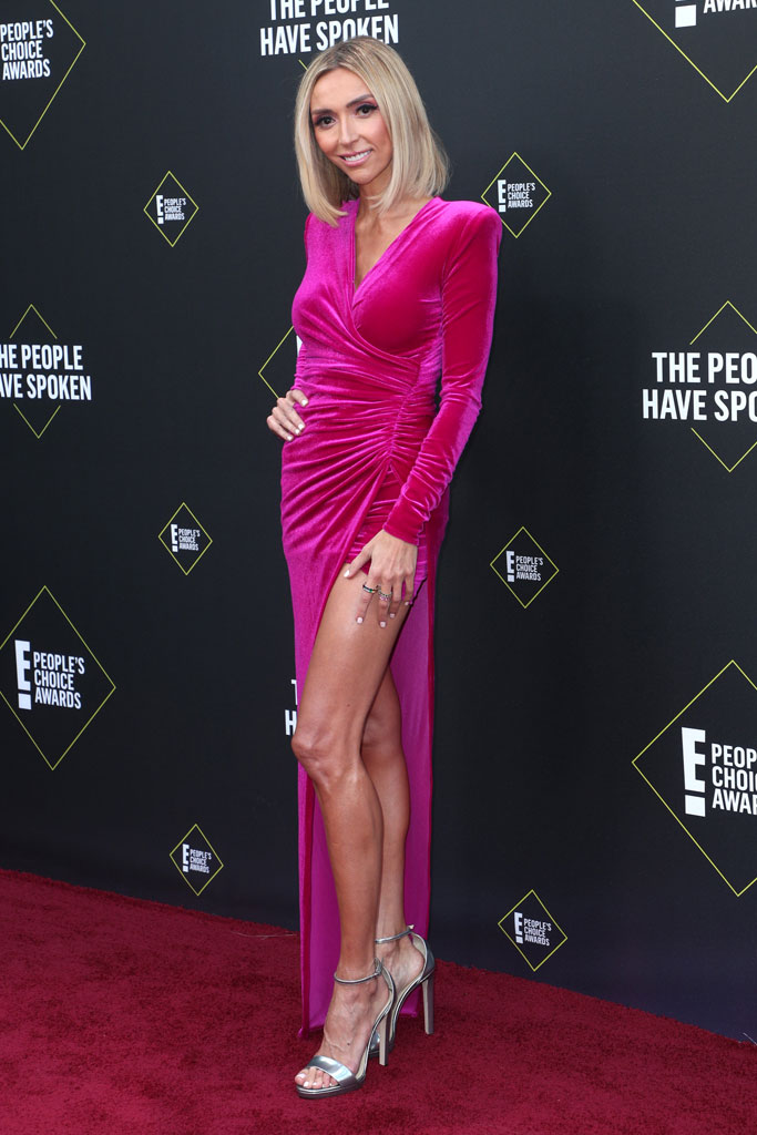 Giuliana Rancic, People's Choice Awards, pink dress
