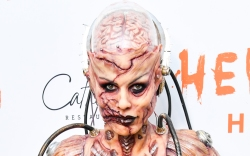 heidi klum, zombie, gory, halloween party,