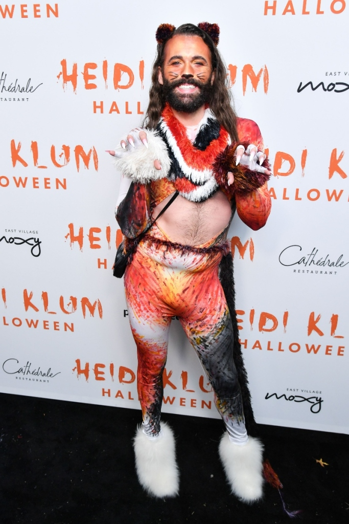 20th annual Halloween party in New York, heidi klum, jonathan van ness, jvn, cats
