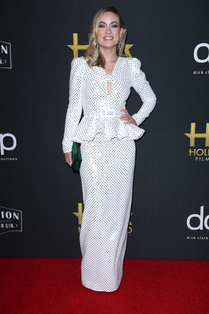Olivia Wilde, jimmy choo shoes, michael kors dress, celebrity style, red carpet, 23rd Annual Hollywood Film Awards, Arrivals, Beverly Hilton, Los Angeles, USA - 03 Nov 2019Wearing Michael Kors