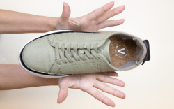 A sneaker from Abcb's Made2Share sustainable