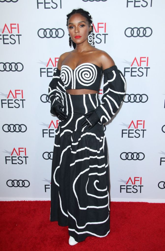 janelle monae, at the premiere of 'Queen and Slim' in Los Angeles