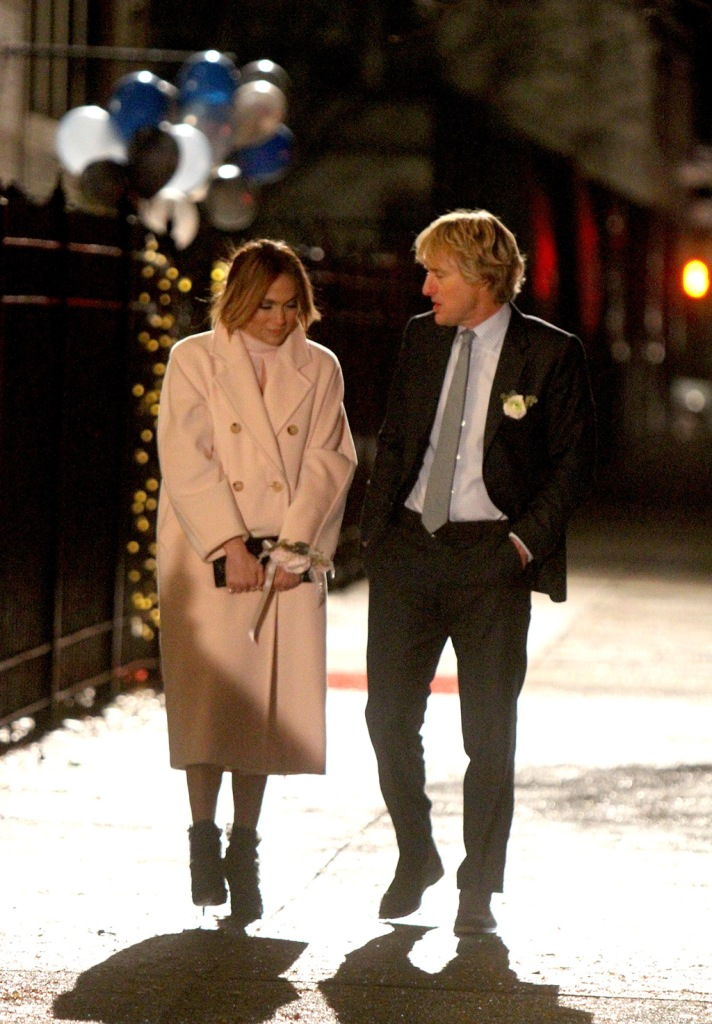 """Jennifer Lopez, max mara coat, pink coat, celebrity style, jimmy choo shoes, pumps, stilettos, j-lo, and Owen Wilson pictured filming a scene before wrapping production at the """"Marry Me"""" movie set in Brooklyn.Pictured: Jennifer Lopez and Owen WilsonRef: SPL5131301 241119 NON-EXCLUSIVEPicture by: Jose Perez / SplashNews.comSplash News and PicturesLos Angeles: 310-821-2666New York: 212-619-2666London: +44 (0)20 7644 7656Berlin: +49 175 3764 166photodesk@splashnews.comWorld RightsJennifer Lopez and Owen Wilson pictured filming a scene before wrapping production at the """"Marry Me"""" movie set in Brooklyn.Pictured: Jennifer Lopez and Owen WilsonRef: SPL5131301 241119 NON-EXCLUSIVEPicture by: Jose Perez / SplashNews.comSplash News and PicturesLos Angeles: 310-821-2666New York: 212-619-2666London: +44 (0)20 7644 7656Berlin: +49 175 3764 166photodesk@splashnews.comWorld Rights"""
