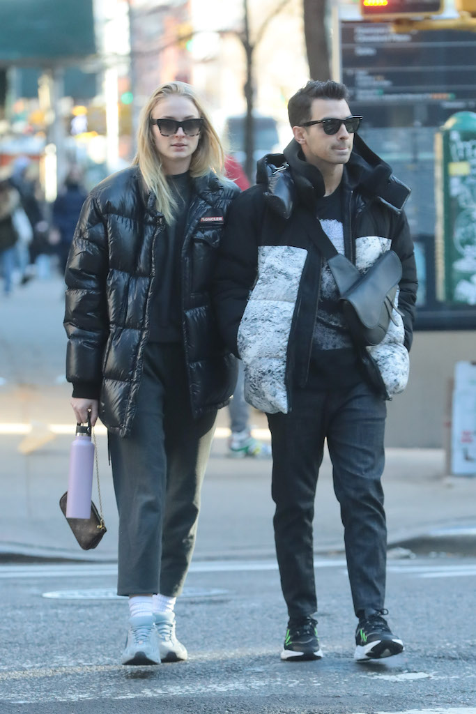 Joe Jonas and Sophie Turner steps out New York Pictured: Joe Jonas,Sophie Turner Ref: SPL5132407 291119 NON-EXCLUSIVE Picture by: SplashNews.com Splash News and Pictures Los Angeles: 310-821-2666 New York: 212-619-2666 London: +44 (0)20 7644 7656 Berlin: +49 175 3764 166 photodesk@splashnews.com World Rights