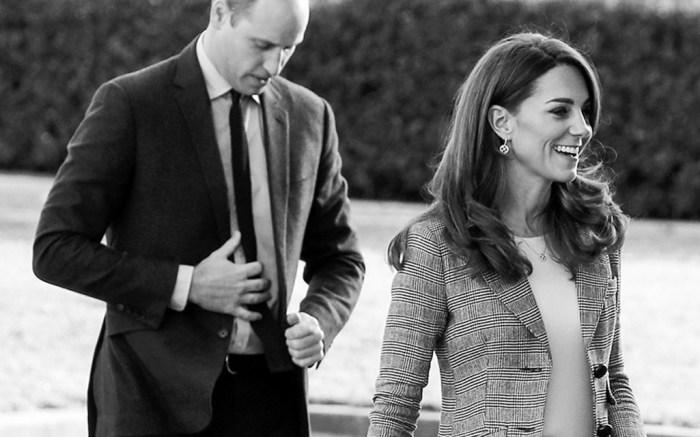 Kate Middleton in Prince of Wales check Smythe jacket.