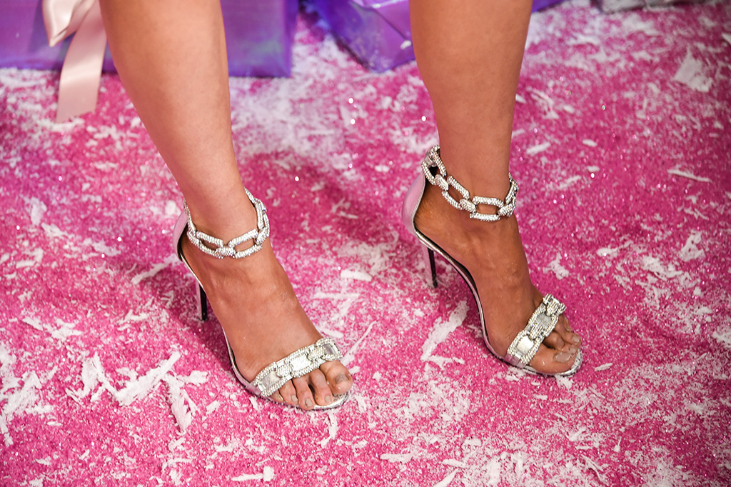 Kacey Musgraves, stella luna, strass chain, sandals, pedicure, toes, feet, stilettos, Amazon Prime Video's 'The Kacey Musgraves Christmas Show' launch party, Arrivals, Metrograph Theater, New York, USA - 19 Nov 2019