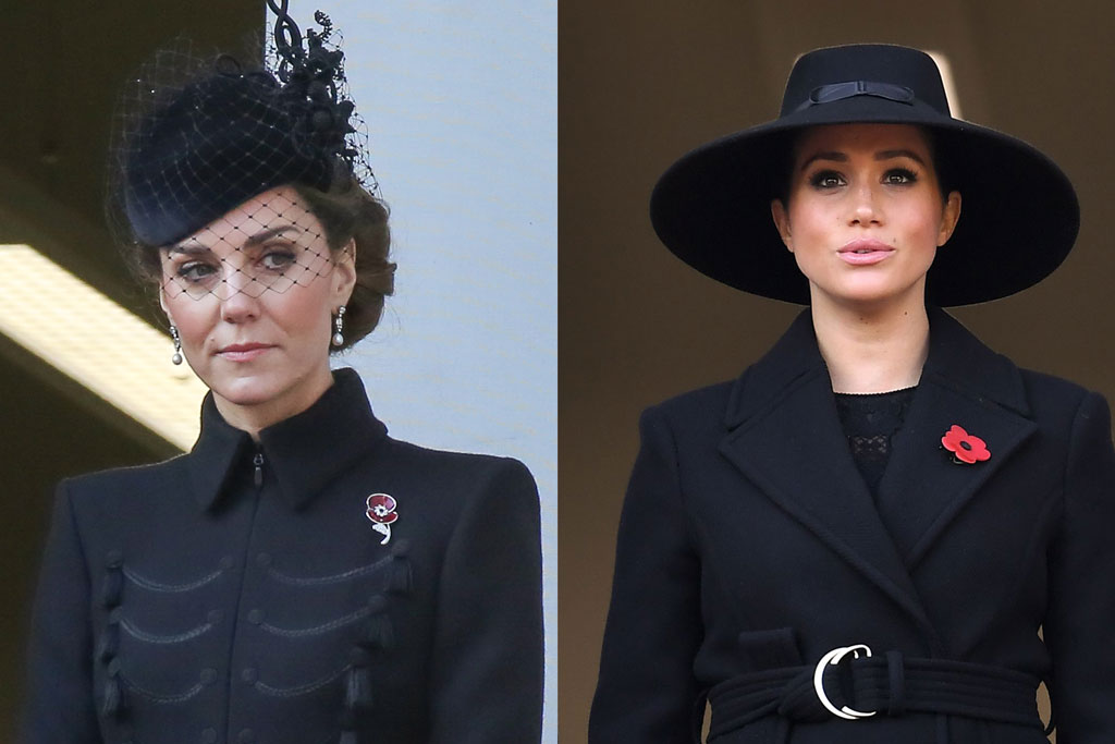what kate middleton meghan markle wore for remembrance day services footwear news footwear news