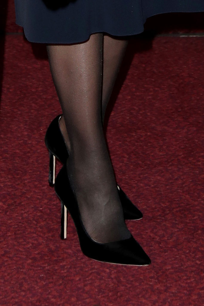Kate Middleton, shoe detail, tights, legs, feet, court shoes, black velvet pumps, jimmy choo shoes, royal style, celebrity style, festival of remembrance
